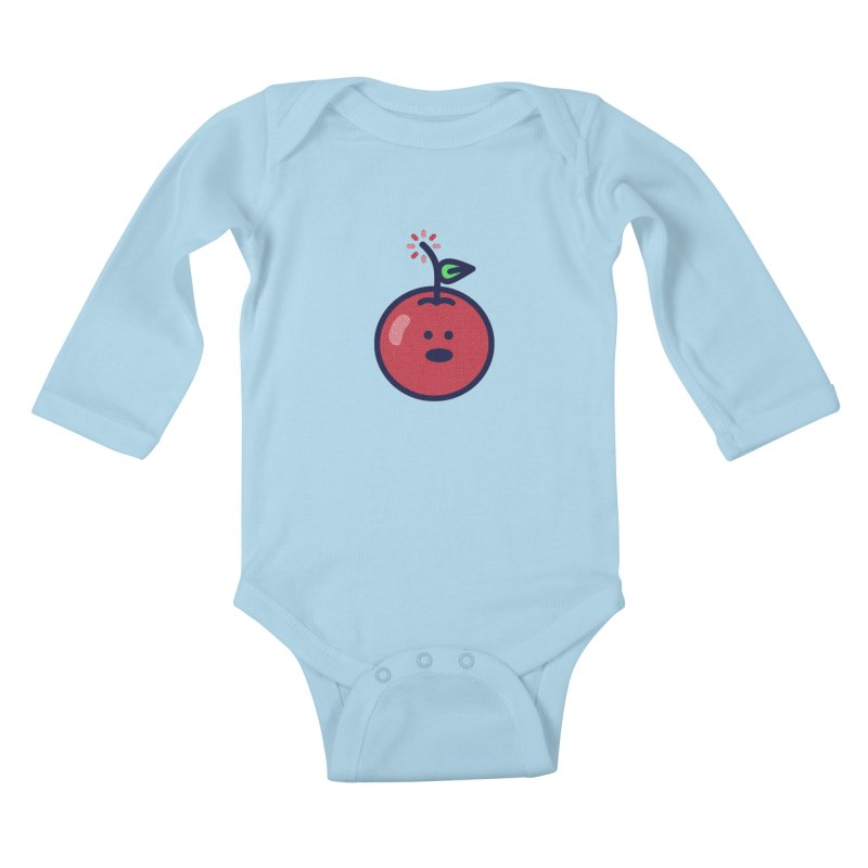Cherry Bomb Kids Baby Longsleeve Bodysuit by lunchboxbrain's Artist Shop