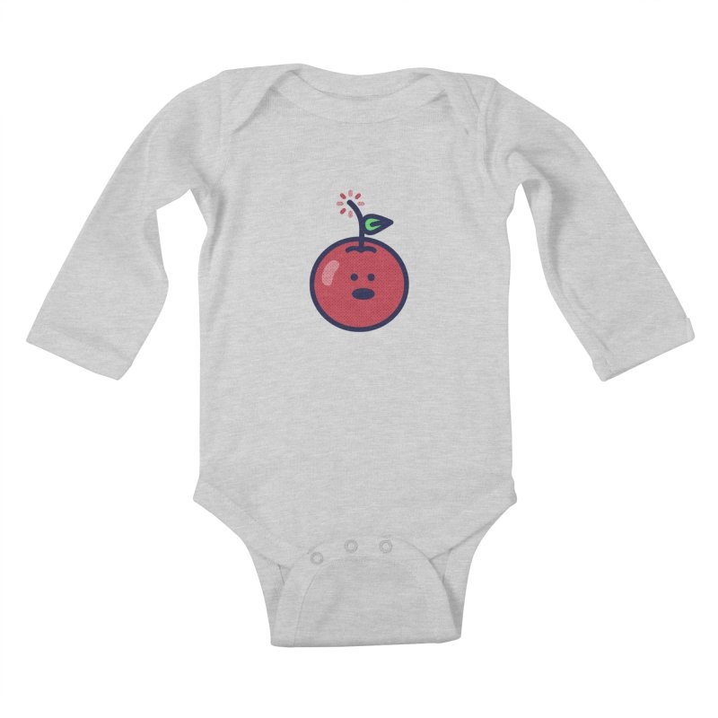 Cherry Bomb Kids Baby Longsleeve Bodysuit by lunchboxbrain's Artist Shop