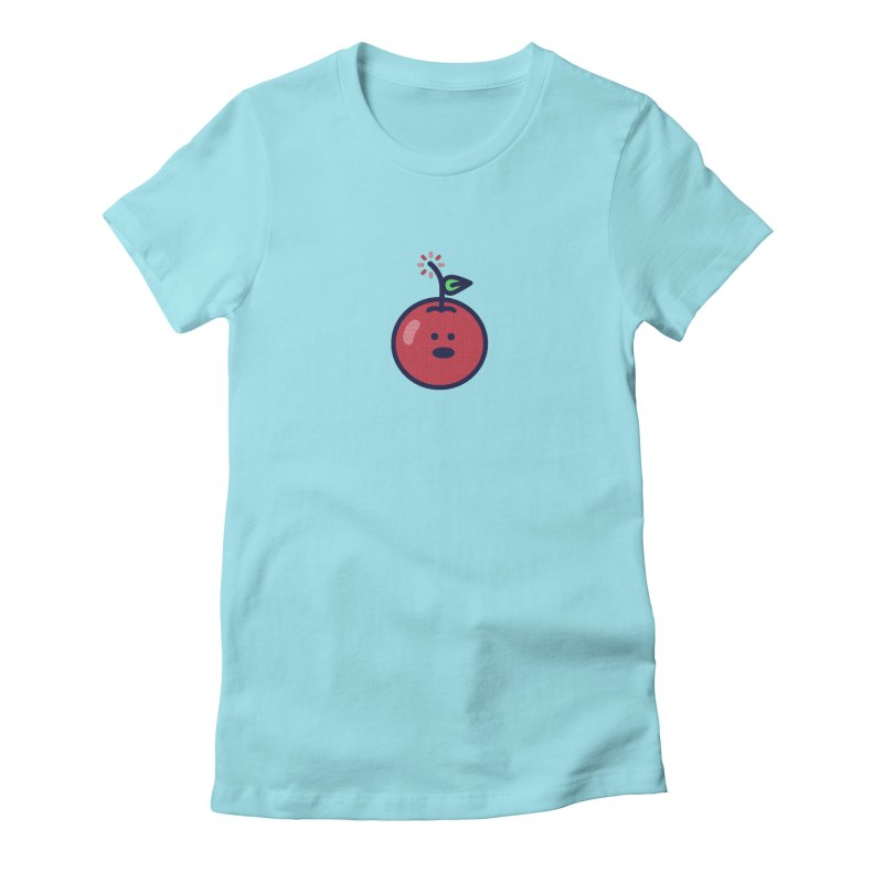 Cherry Bomb Women's Fitted T-Shirt by lunchboxbrain's Artist Shop