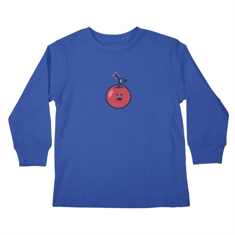 Cherry Bomb Kids Longsleeve T-Shirt by lunchboxbrain's Artist Shop