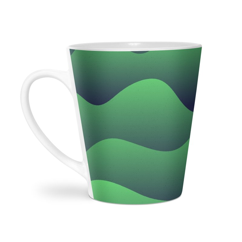Emerald Hills Accessories Latte Mug by lunchboxbrain's Artist Shop