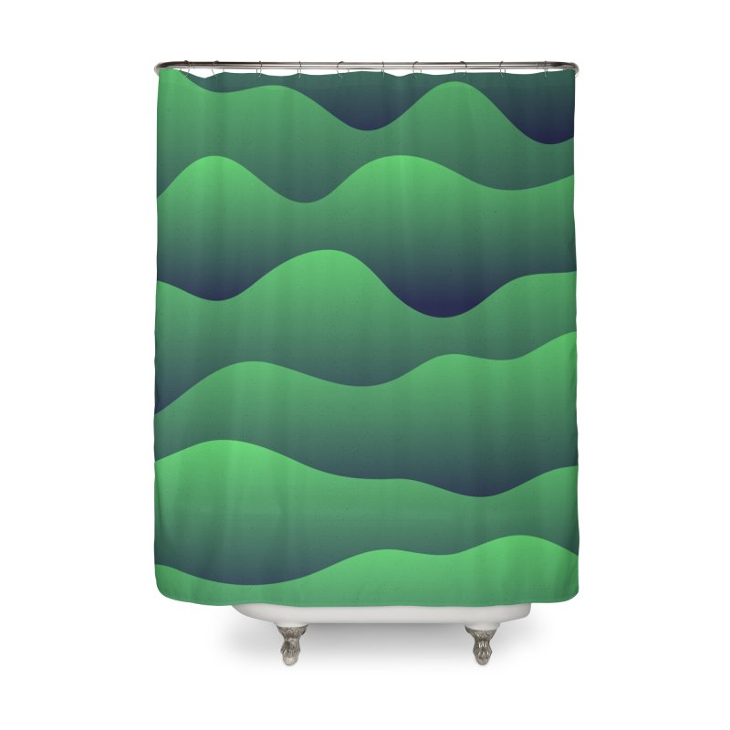 Emerald Hills Home Shower Curtain by lunchboxbrain's Artist Shop