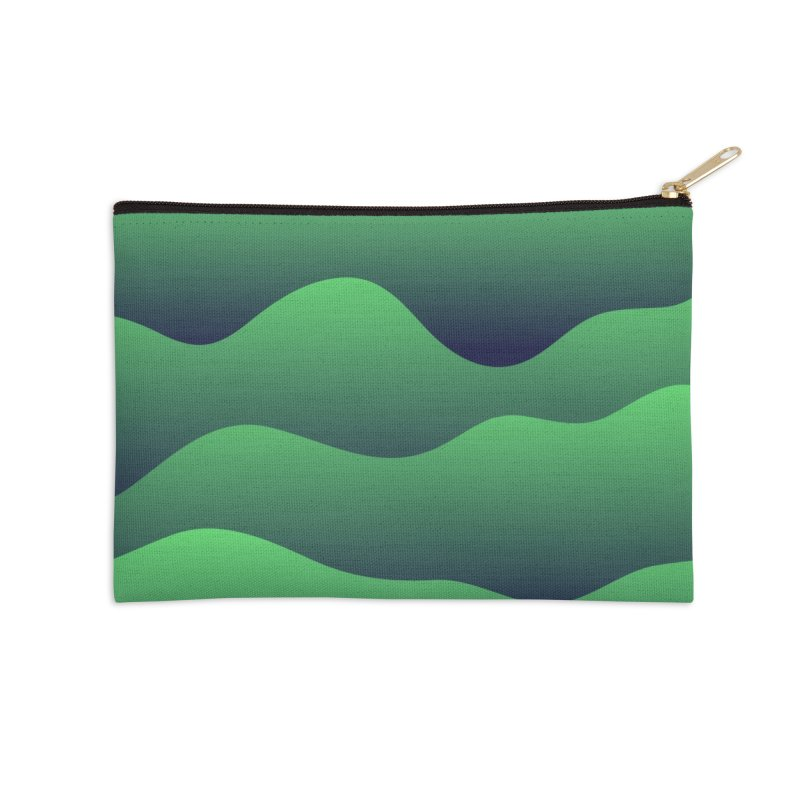 Emerald Hills Accessories Zip Pouch by lunchboxbrain's Artist Shop