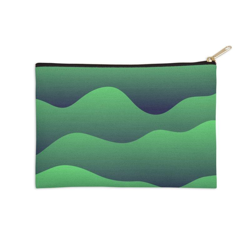 Emerald Hills Accessories Zip Pouch by lunchboxbrain's Artist Shop