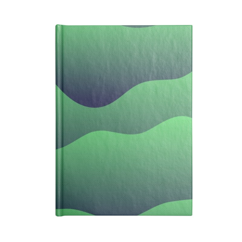 Emerald Hills Accessories Lined Journal Notebook by lunchboxbrain's Artist Shop
