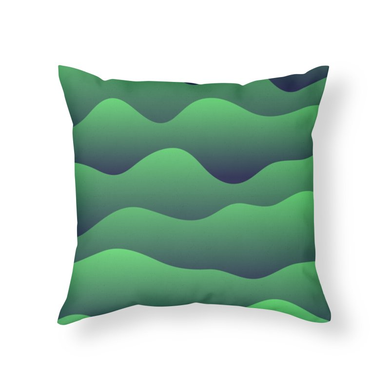 Emerald Hills Home Throw Pillow by lunchboxbrain's Artist Shop