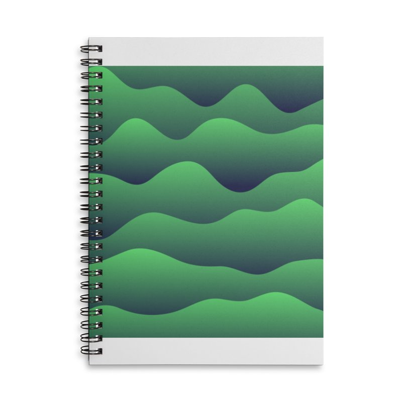 Emerald Hills Accessories Lined Spiral Notebook by lunchboxbrain's Artist Shop