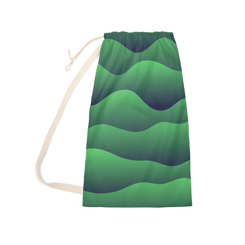 Emerald Hills Accessories Laundry Bag Bag by lunchboxbrain's Artist Shop