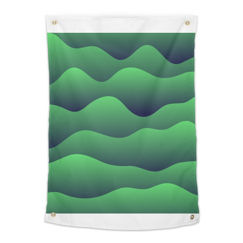 Emerald Hills Home Tapestry by lunchboxbrain's Artist Shop