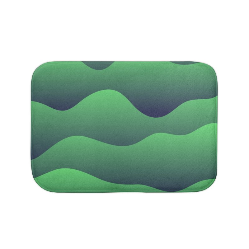 Emerald Hills Home Bath Mat by lunchboxbrain's Artist Shop
