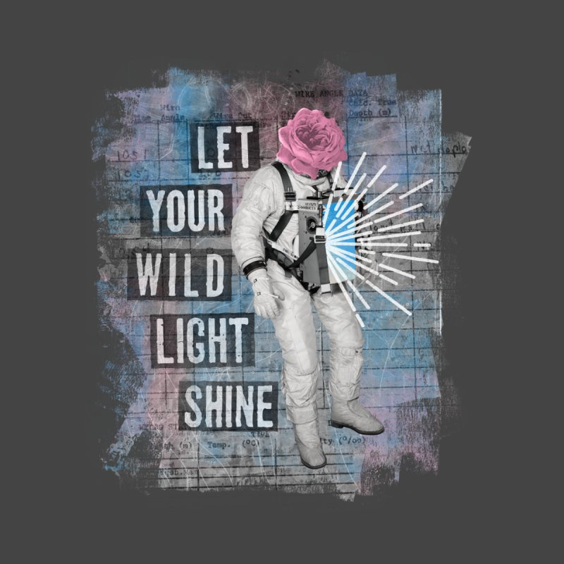 Let Your Wild Light Shine Men's Zip-Up Hoody by lunchboxbrain's Artist Shop
