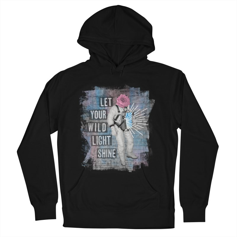 Let Your Wild Light Shine Men's French Terry Pullover Hoody by lunchboxbrain's Artist Shop