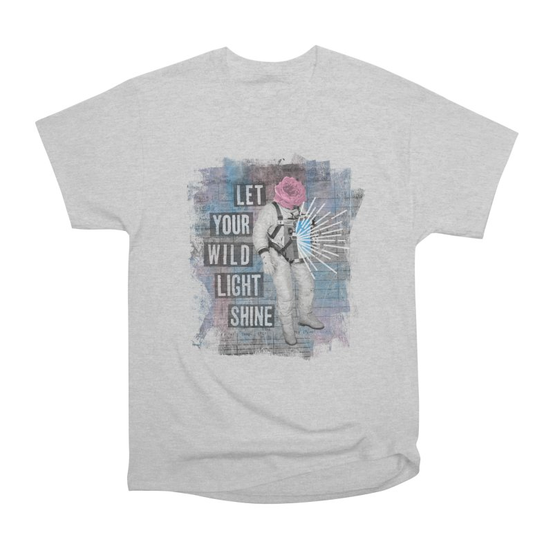 Let Your Wild Light Shine Men's Heavyweight T-Shirt by lunchboxbrain's Artist Shop