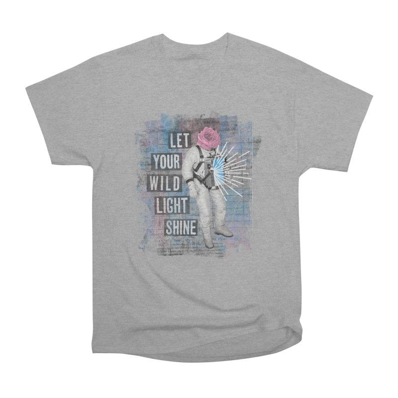 Let Your Wild Light Shine Women's Heavyweight Unisex T-Shirt by lunchboxbrain's Artist Shop