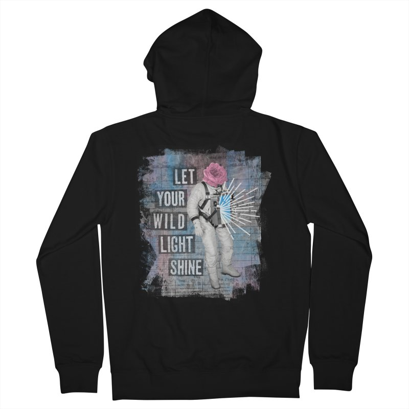 Let Your Wild Light Shine Women's French Terry Zip-Up Hoody by lunchboxbrain's Artist Shop
