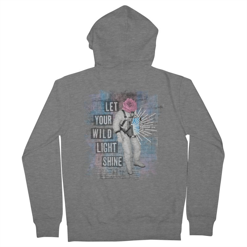 Let Your Wild Light Shine Men's French Terry Zip-Up Hoody by lunchboxbrain's Artist Shop
