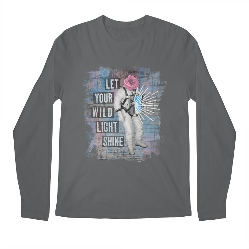 Let Your Wild Light Shine Men's Regular Longsleeve T-Shirt by lunchboxbrain's Artist Shop