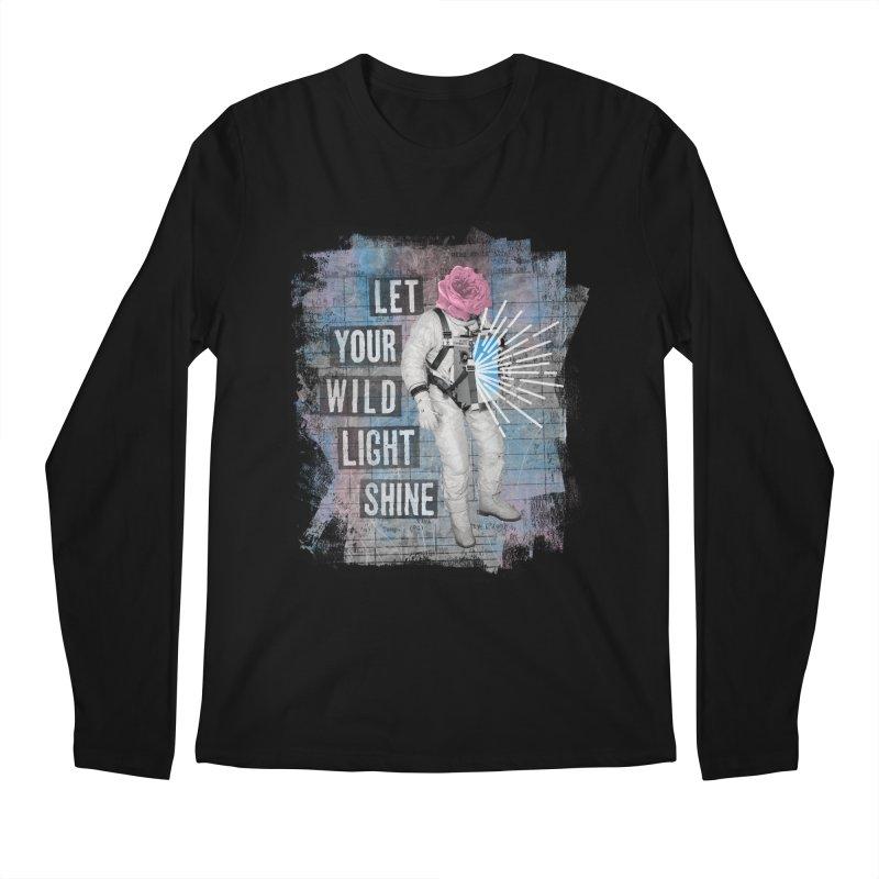 Let Your Wild Light Shine Men's Longsleeve T-Shirt by lunchboxbrain's Artist Shop
