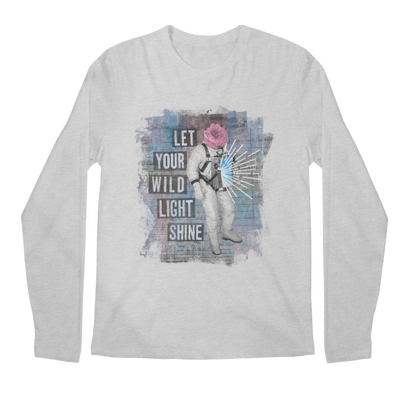 Let Your Wild Light Shine Men's Regular Longsleeve T-Shirt by lunchboxbrain's Artist Shop