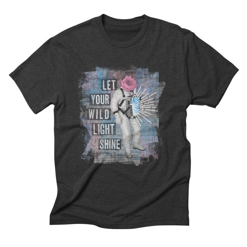 Let Your Wild Light Shine Men's Triblend T-Shirt by lunchboxbrain's Artist Shop