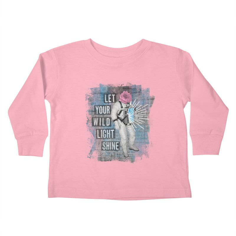 Let Your Wild Light Shine Kids Toddler Longsleeve T-Shirt by lunchboxbrain's Artist Shop