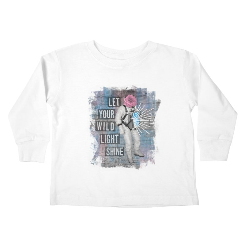 Let Your Wild Light Shine Kids Toddler Longsleeve T-Shirt by lunchboxbrain's Artist Shop