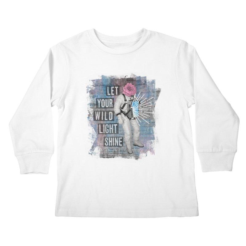 Let Your Wild Light Shine Kids Longsleeve T-Shirt by lunchboxbrain's Artist Shop