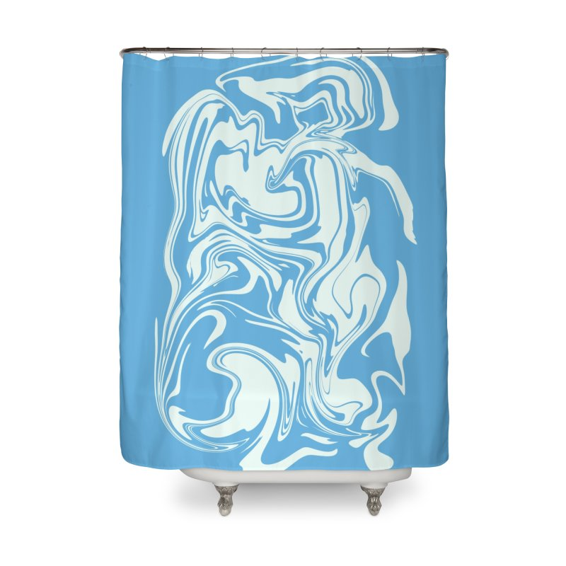 Hudson Swirl Home Shower Curtain by lunchboxbrain's Artist Shop
