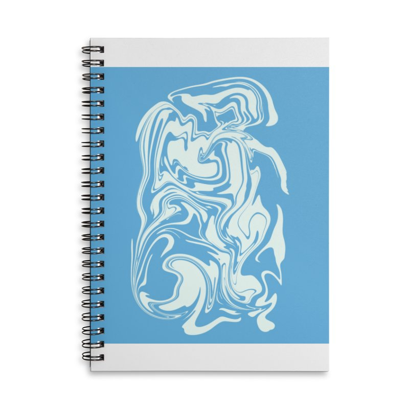 Hudson Swirl Accessories Lined Spiral Notebook by lunchboxbrain's Artist Shop