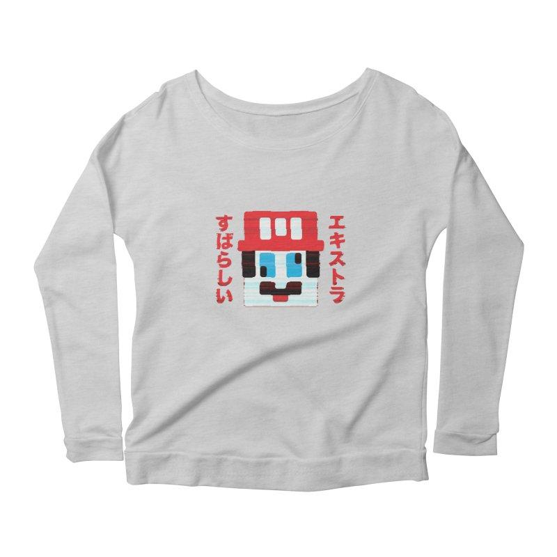 Extra Super Bro Women's Scoop Neck Longsleeve T-Shirt by lunchboxbrain's Artist Shop