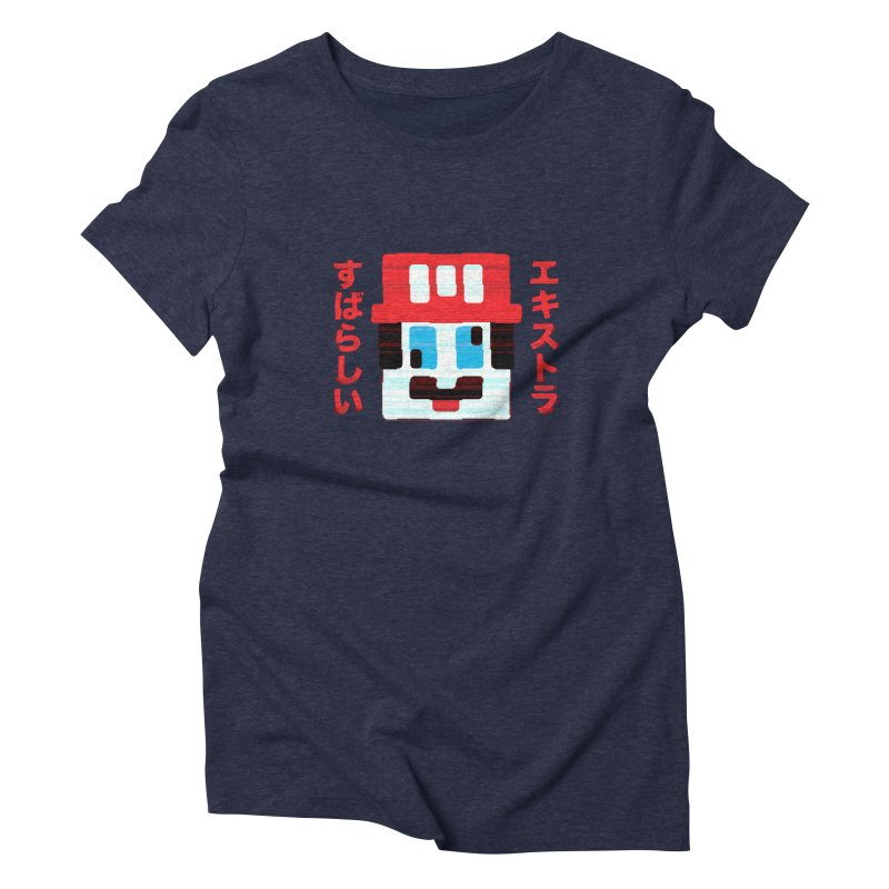 Extra Super Bro Women's Triblend T-Shirt by lunchboxbrain's Artist Shop