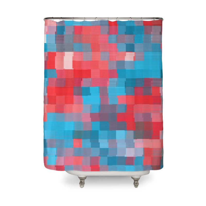 Glitcheru Home Shower Curtain by lunchboxbrain's Artist Shop