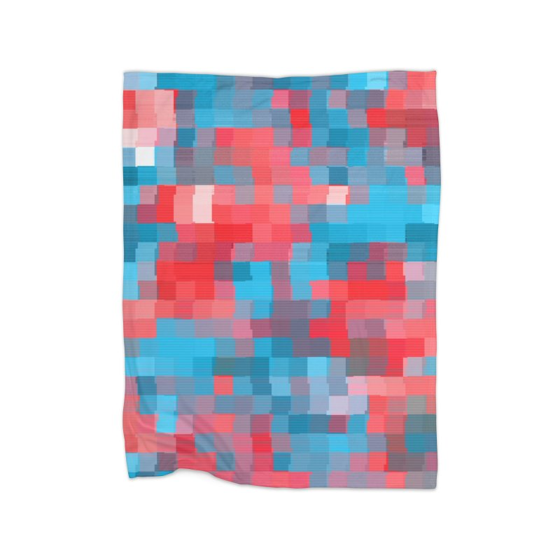 Glitcheru Home Fleece Blanket Blanket by lunchboxbrain's Artist Shop