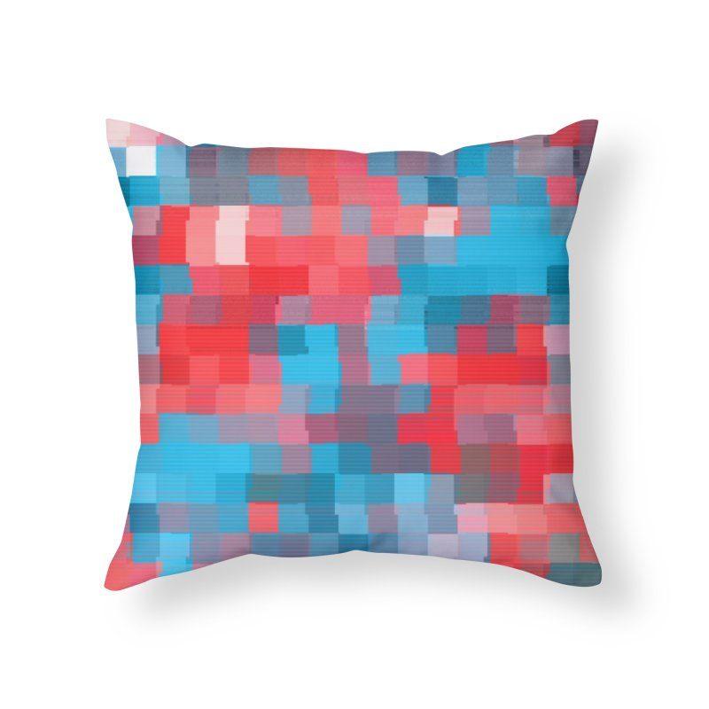 Glitcheru Home Throw Pillow by lunchboxbrain's Artist Shop