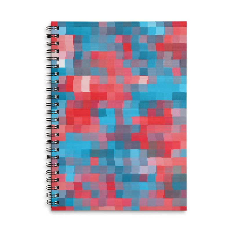 Glitcheru Accessories Lined Spiral Notebook by lunchboxbrain's Artist Shop