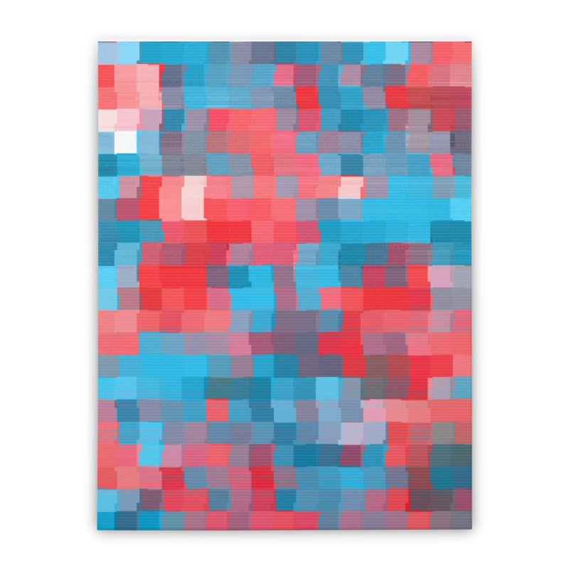 Glitcheru Home Stretched Canvas by lunchboxbrain's Artist Shop