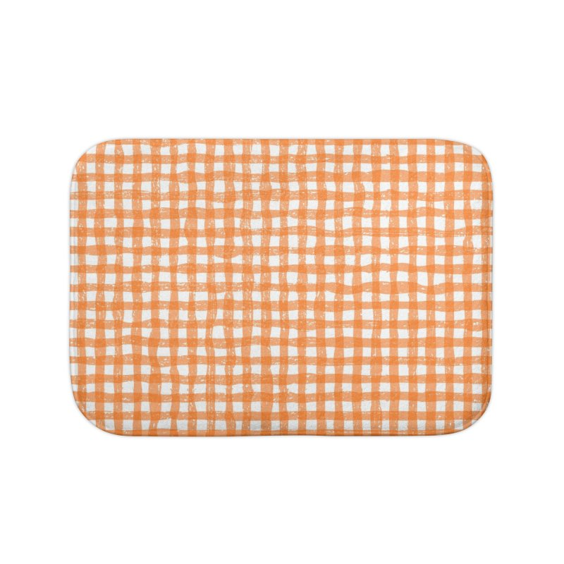 Gingham Patch Home Bath Mat by lunchboxbrain's Artist Shop
