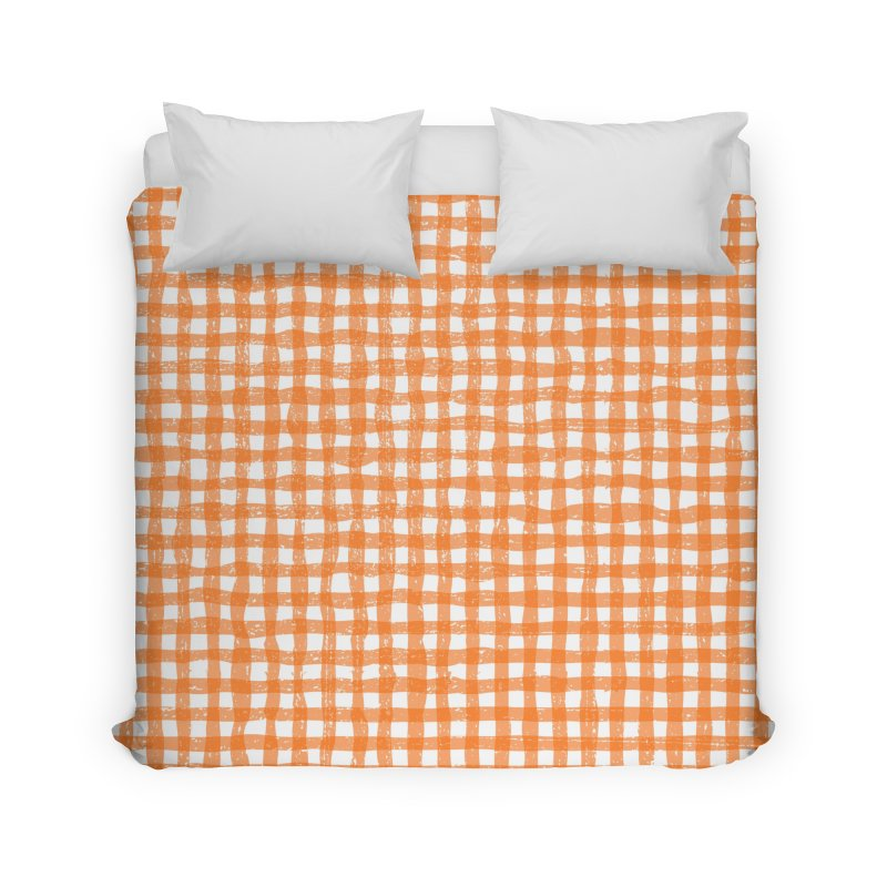 Gingham Patch Home Duvet by lunchboxbrain's Artist Shop