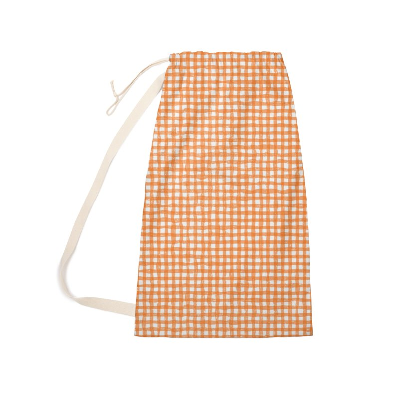 Gingham Patch Accessories Laundry Bag Bag by lunchboxbrain's Artist Shop