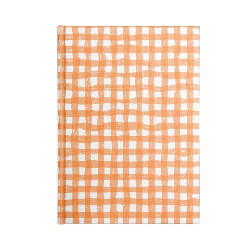Gingham Patch Accessories Lined Journal Notebook by lunchboxbrain's Artist Shop