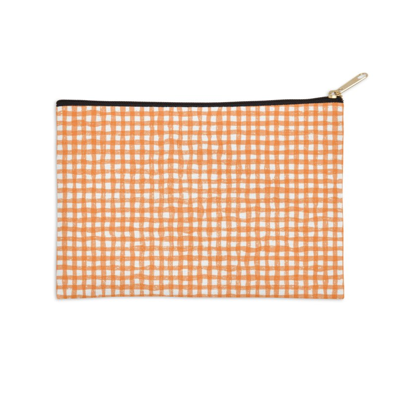 Gingham Patch Accessories Zip Pouch by lunchboxbrain's Artist Shop