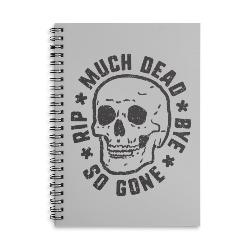 So Gone Accessories Lined Spiral Notebook by lunchboxbrain's Artist Shop