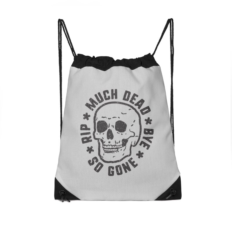 So Gone Accessories Drawstring Bag Bag by lunchboxbrain's Artist Shop