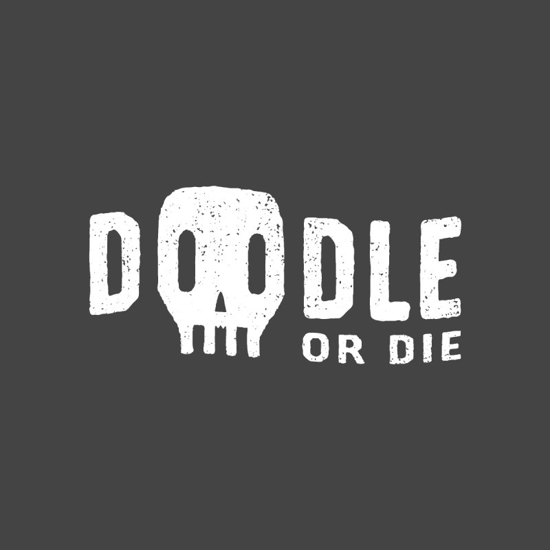 Doodle or Die Women's V-Neck by lunchboxbrain's Artist Shop