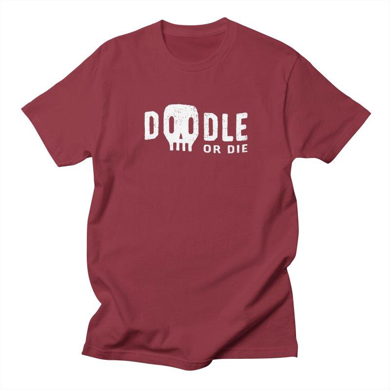 Doodle or Die Men's T-Shirt by lunchboxbrain's Artist Shop