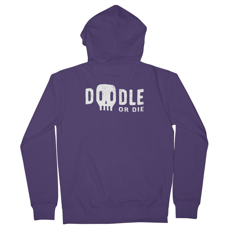 Doodle or Die Women's Zip-Up Hoody by lunchboxbrain's Artist Shop