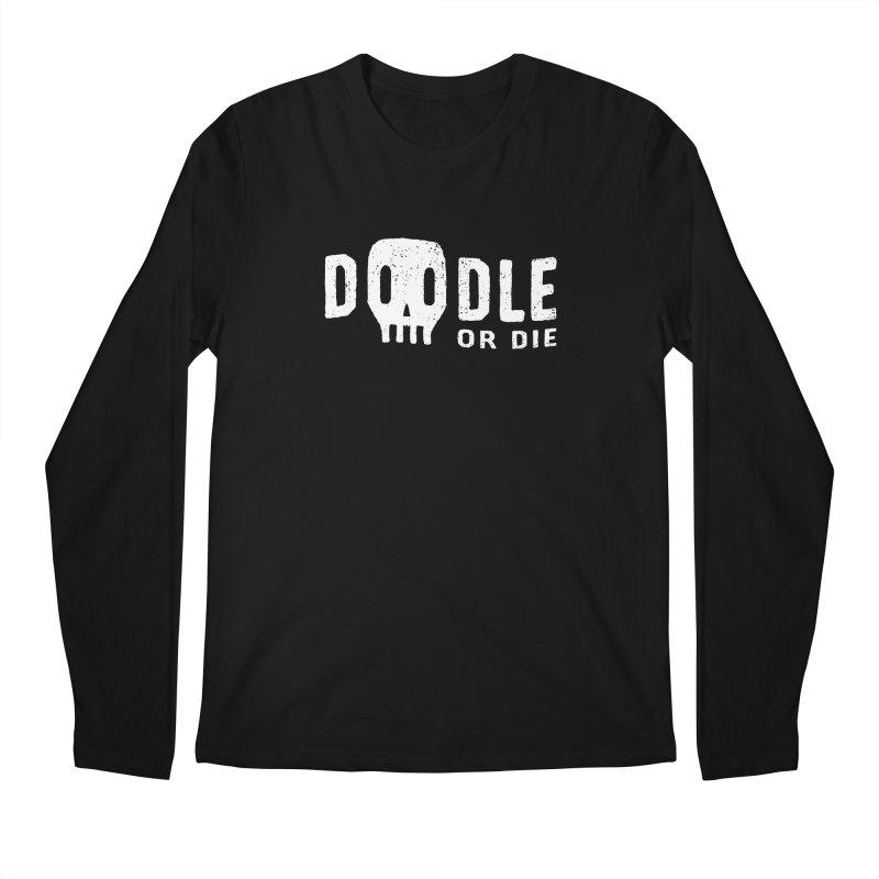 Doodle or Die Men's Regular Longsleeve T-Shirt by lunchboxbrain's Artist Shop