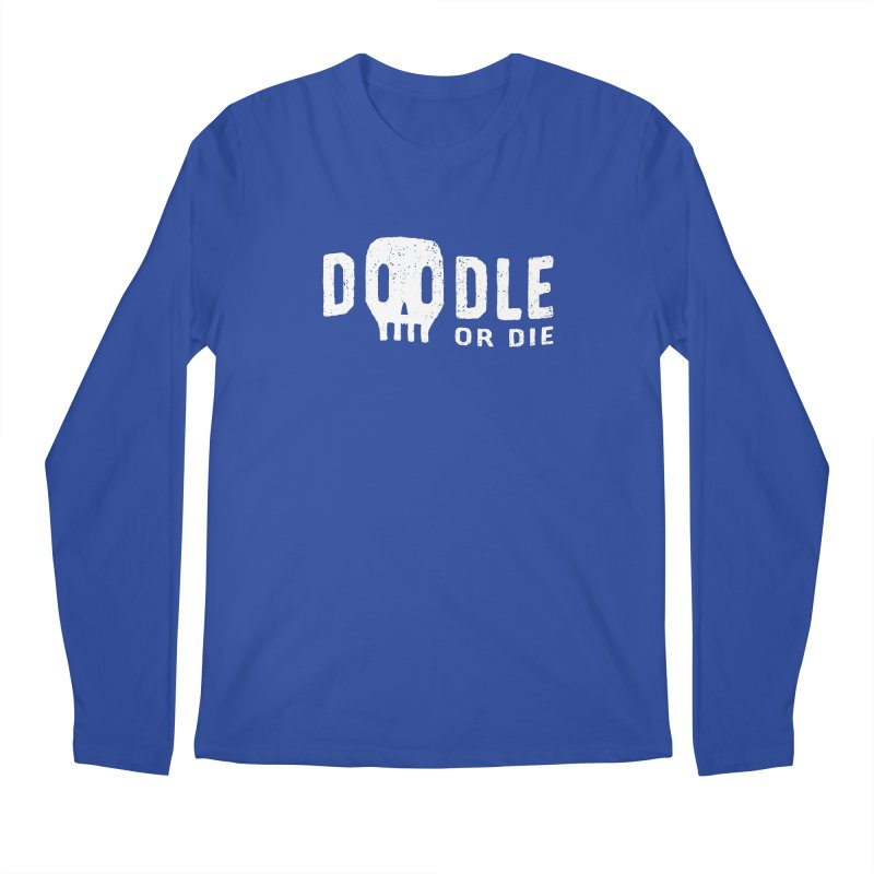Doodle or Die Men's Regular Longsleeve T-Shirt by lunchboxbrain's Artist Shop