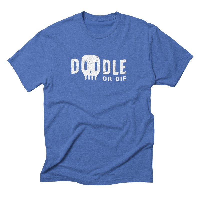 Doodle or Die Men's Triblend T-Shirt by lunchboxbrain's Artist Shop