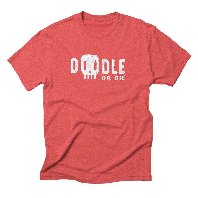 Doodle or Die Men's Triblend T-Shirt by lunchboxbrain's Artist Shop